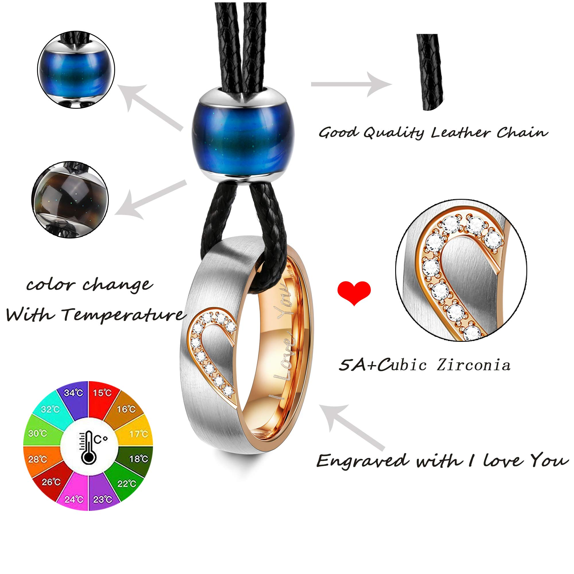 6023c2bec7 LOYALLOOK 4Pcs Couples Distance Necklace Bracelets Set for Women Men ...