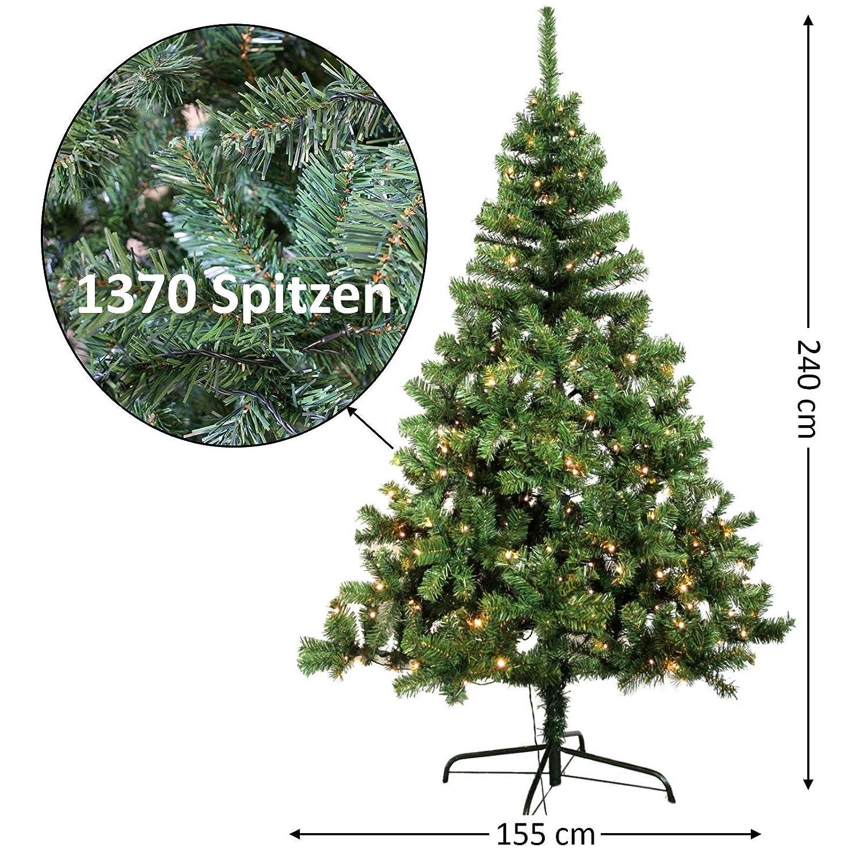 Künstlicher Weihnachtsbaum 150 Cm.Maco Import Künstlicher Weihnachtsbaum Mit 120 Leds Beleuchtet