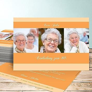Einladungskarten Zum 80 Geburtstag Selber Machen Dreiklang 80 20