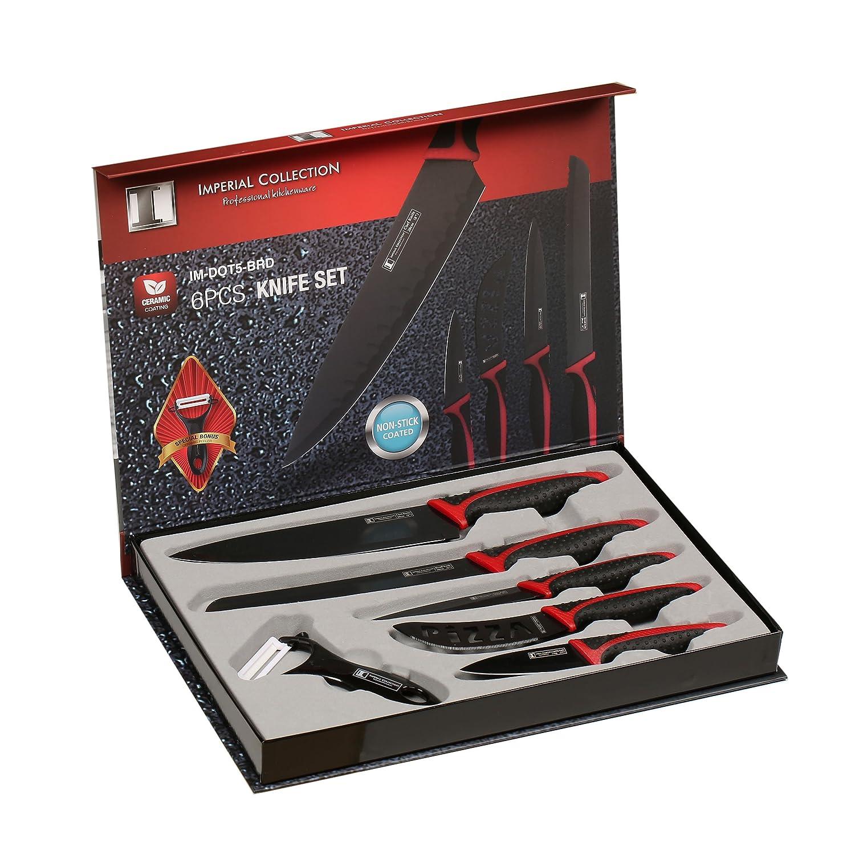 Imperial Collection 6-teiliges Keramik Messerset mit Kochmesser ...