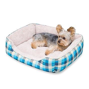 Stinky G cama del perro, diseñador azul a plaid de verano tela de lona durable (65 x 55 cm): Amazon.es: Juguetes y juegos