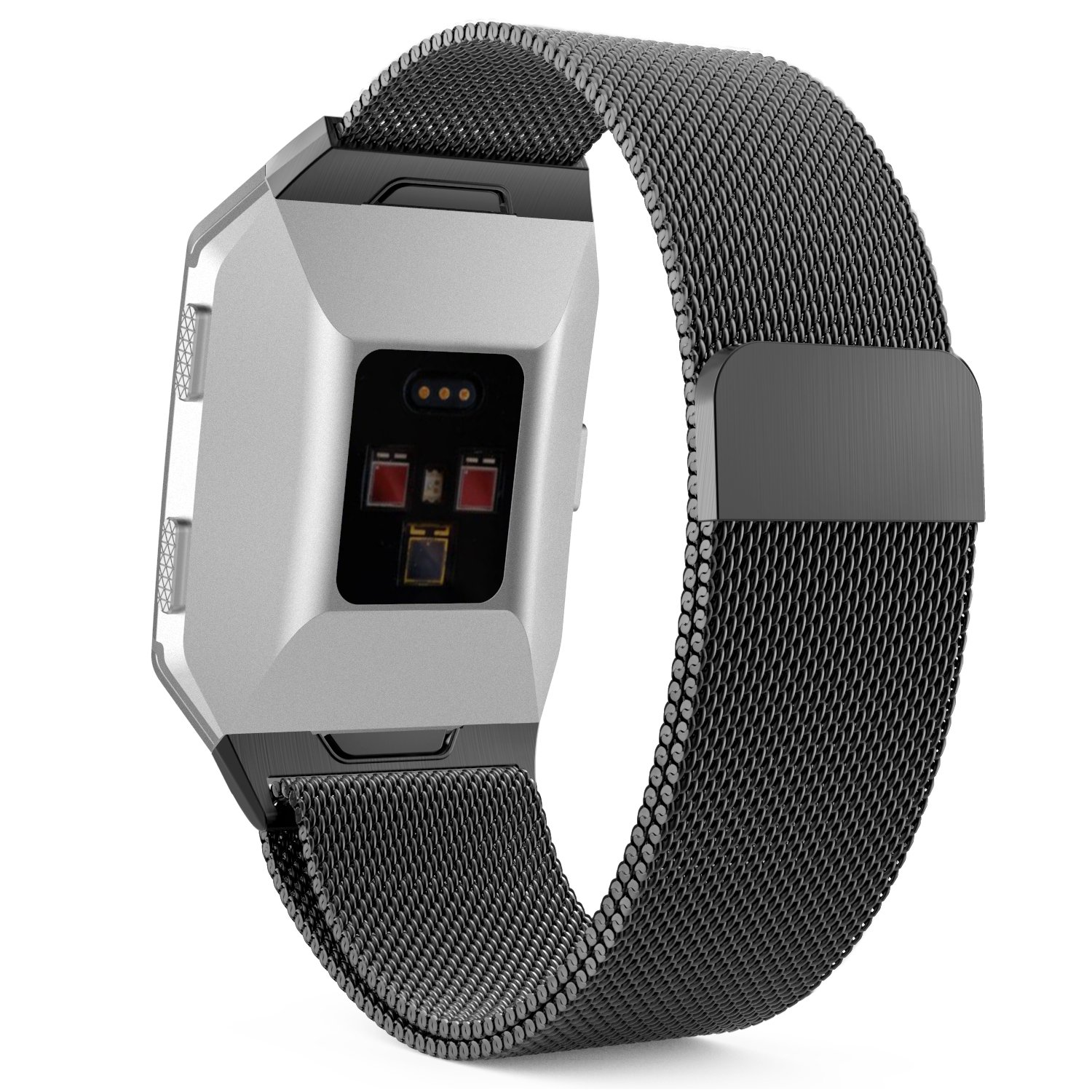 MoKo Fitbit Ionic Watch Band , Milanese Loop Stainless Steel Mesh Bracelet Watch Strap Wristband with Unique Magnet Lock for Fitbit Ionic Smart Watch