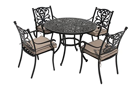 98f52c02bd19 Image Unavailable. Image not available for. Colour: LG Outdoor Devon 105cm  Round 4 Seat Dining Set ...