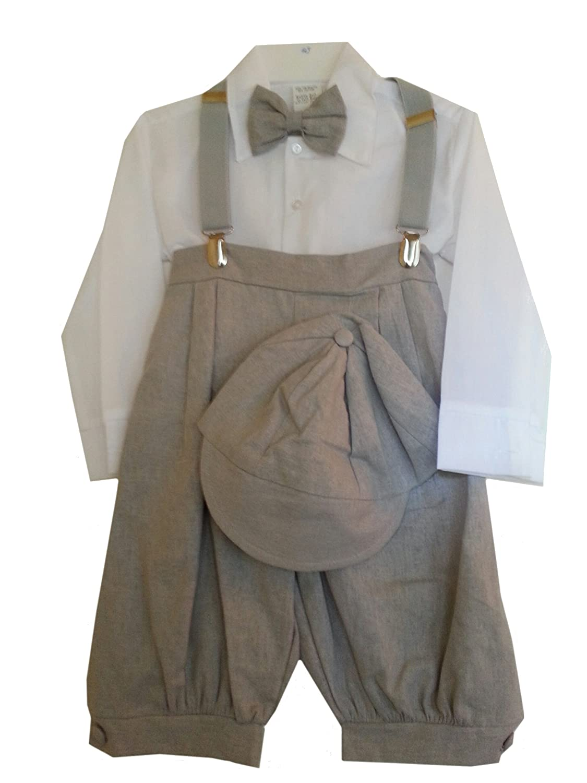 DapperLads Baby Boys' 5 - Pc Gray Vintage Style Knickerbocker Set
