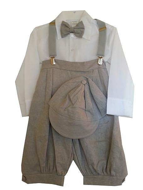 Dapperlads Baby Boys 5 Pc Gray Vintage Style Knickerbocker Set