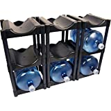 Bottle Buddy 3 Tier System (3 Pack) 9-Bottle, Black