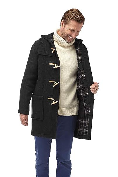 df691618ed99 Original Montgomery Mens Wooden Toggles Duffle Coat (40, Charcoal)