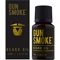 Beard Oil Gun Smoke by BeardCare Conditioning Oil for Beards, Goatee + Moustache 30ML Scented Softener essential for beard care kit, stops Beard Itch Jojoba Oil and Argan Oil. makes a Beard Soft & Smells Nice