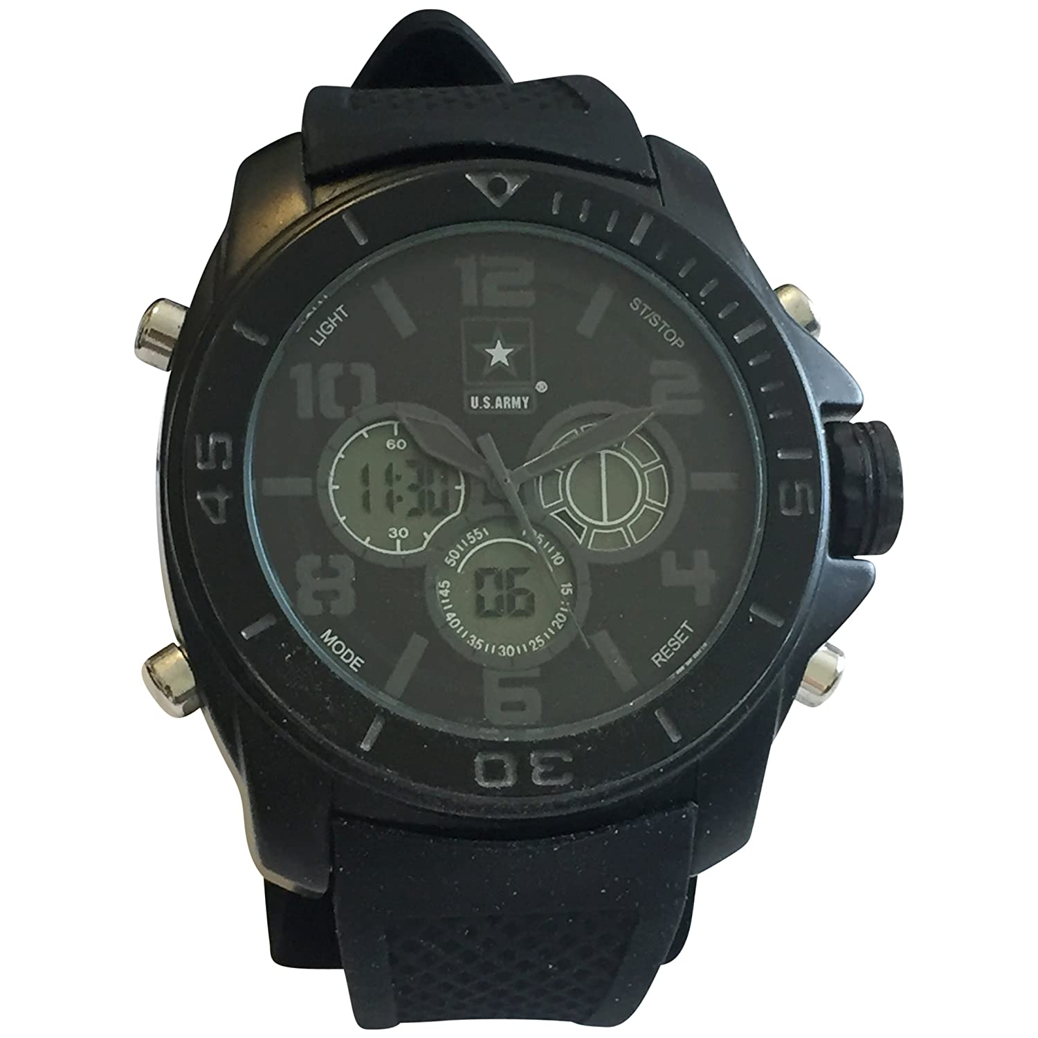 Amazon.com: US Army Wrist Armor C24 Watch Blk Stealth Dial & Blk Rubber Strap: Watches