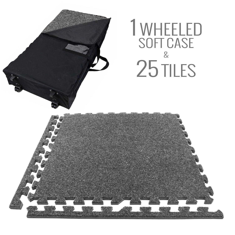 Light Grey - 12 Tiles IncStores Eco-Soft Carpet Foam Tiles