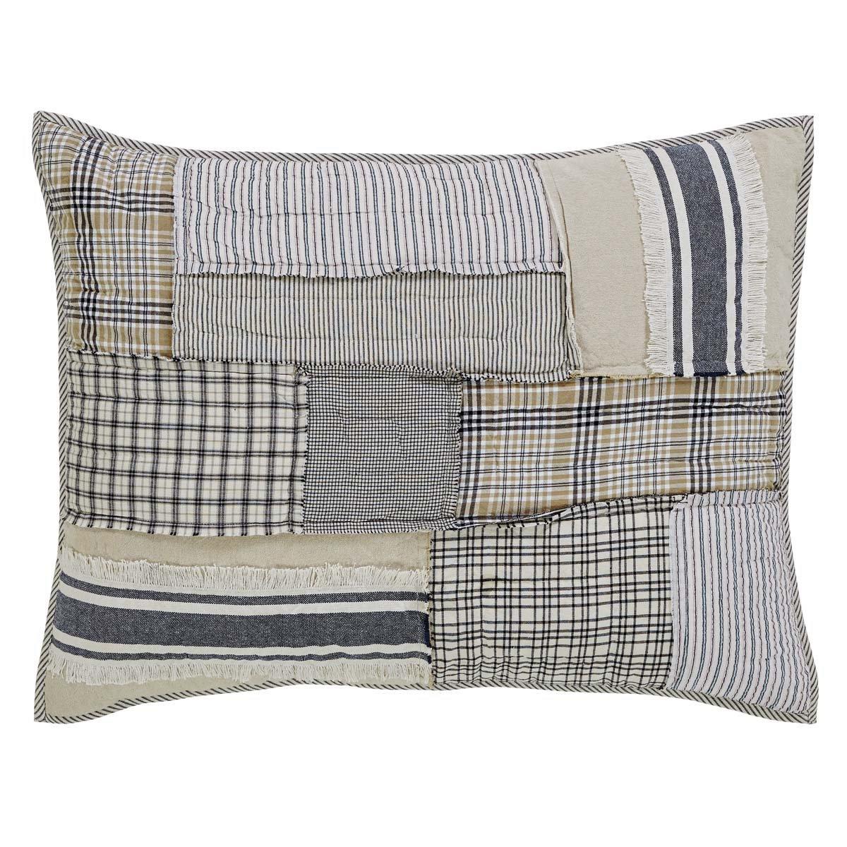 Piper Classics Mill Creek Standard Pillow Sham, 21 x 27, Farmhouse Decor Bed Pillow Cover