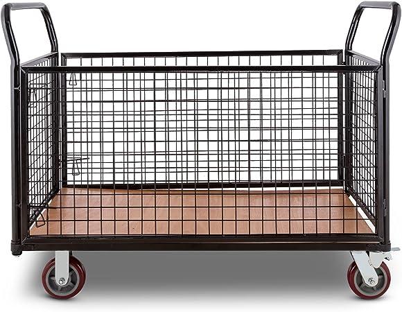 DURAMAXX Loadster Carro de transporte de mercancías en jaula caja (max 500 kg, 2 ruedas de bloqueo, 2 angulares, estructura resistente): Amazon.es: Electrónica