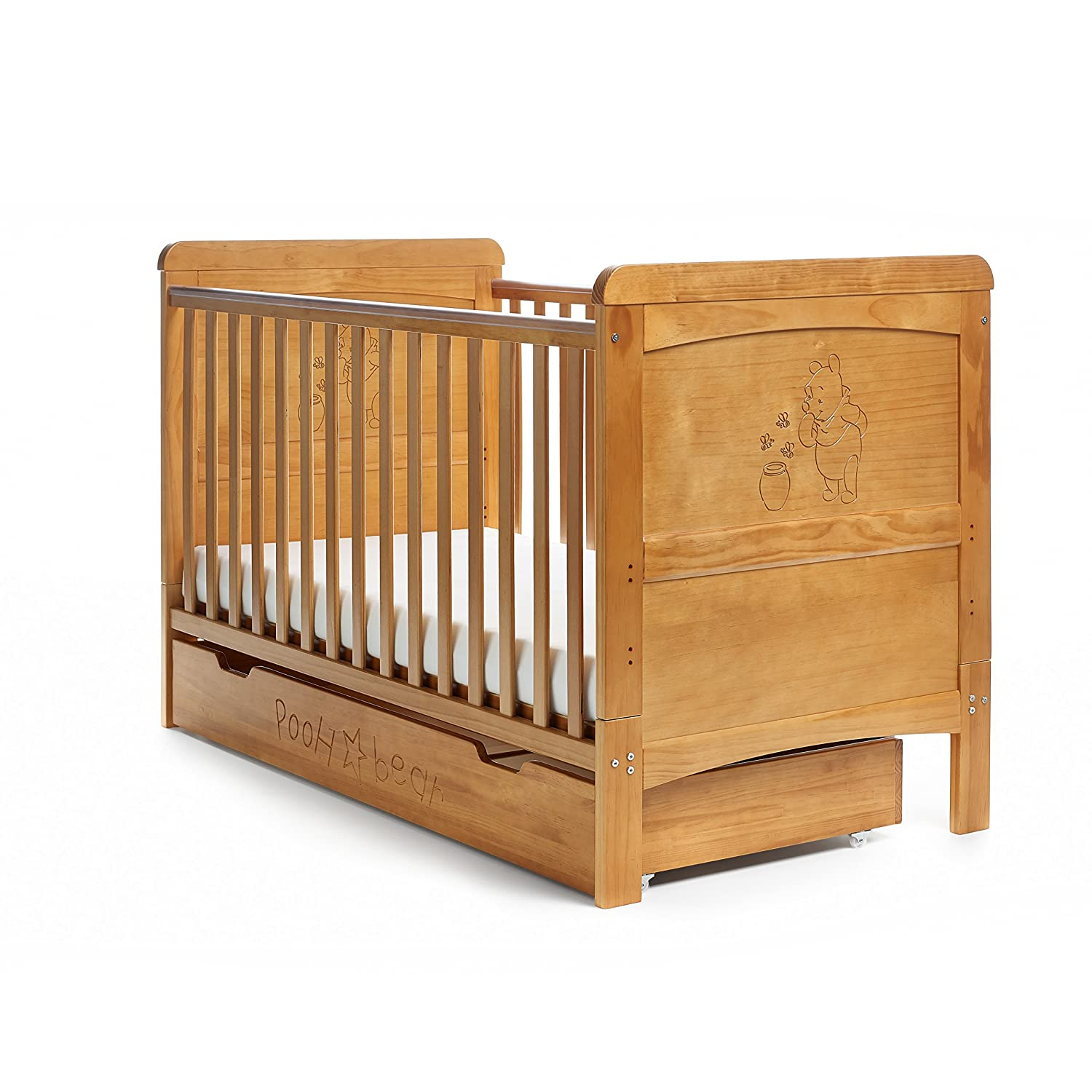 Disney Winnie The Pooh 3 Piece Double Furniture Set (Country Pine):  Amazon.co.uk: Baby