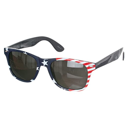 Republic Unisex American Flag Wayfarer Sunglasses, American ...