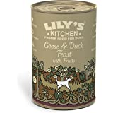 Lily's Kitchen Goose & Duck Feast with Fruits Complete Wet Food for Dogs 400g (Pack of 6)