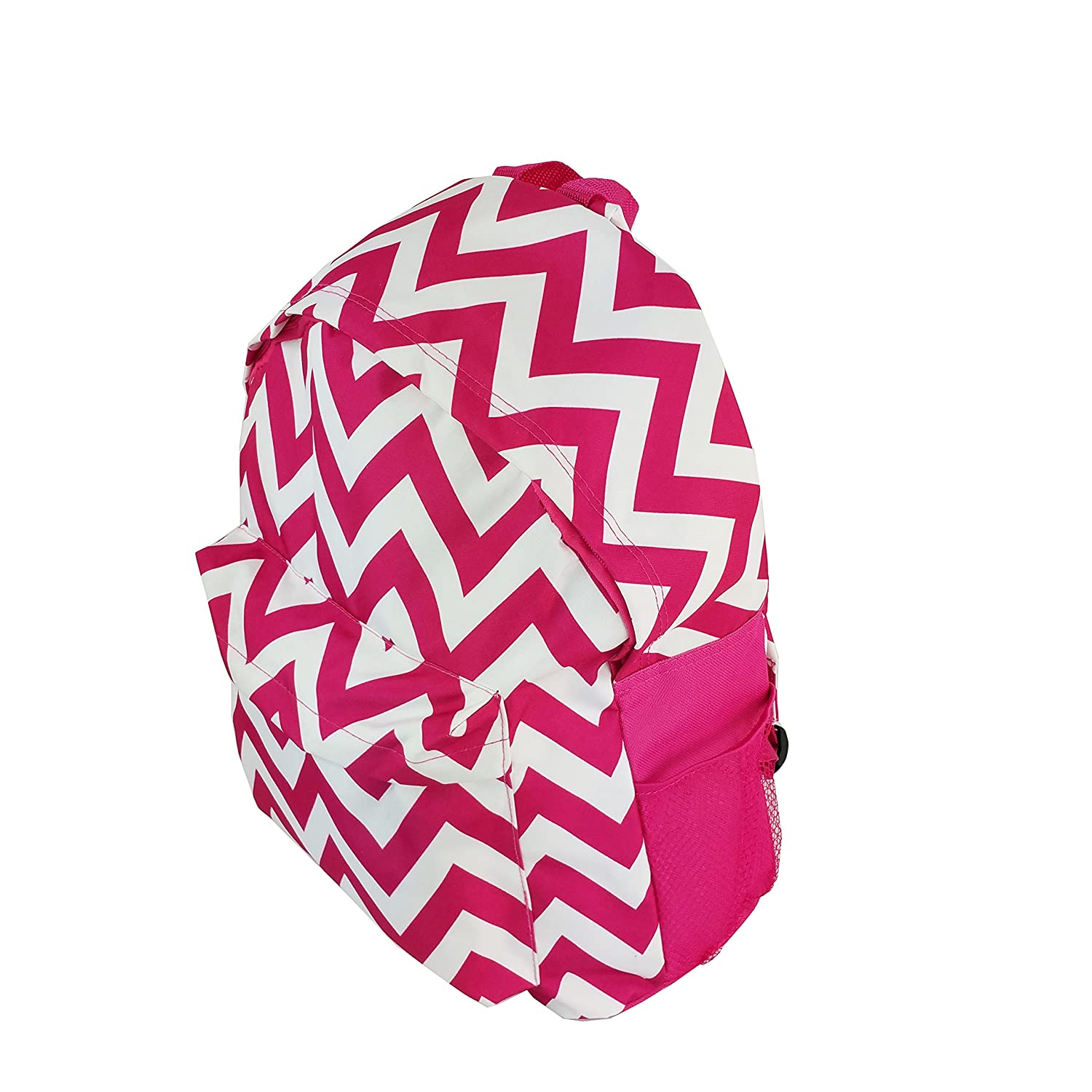 Multipurpose Backpack Chevron Pattern Design Pink and White