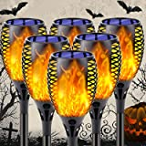 6-Pack Solar Flame Torch (Larger Size), Super-Bright Solar Lights Outdoor Decorative with Flickering Flame, Solar Outdoor Lig