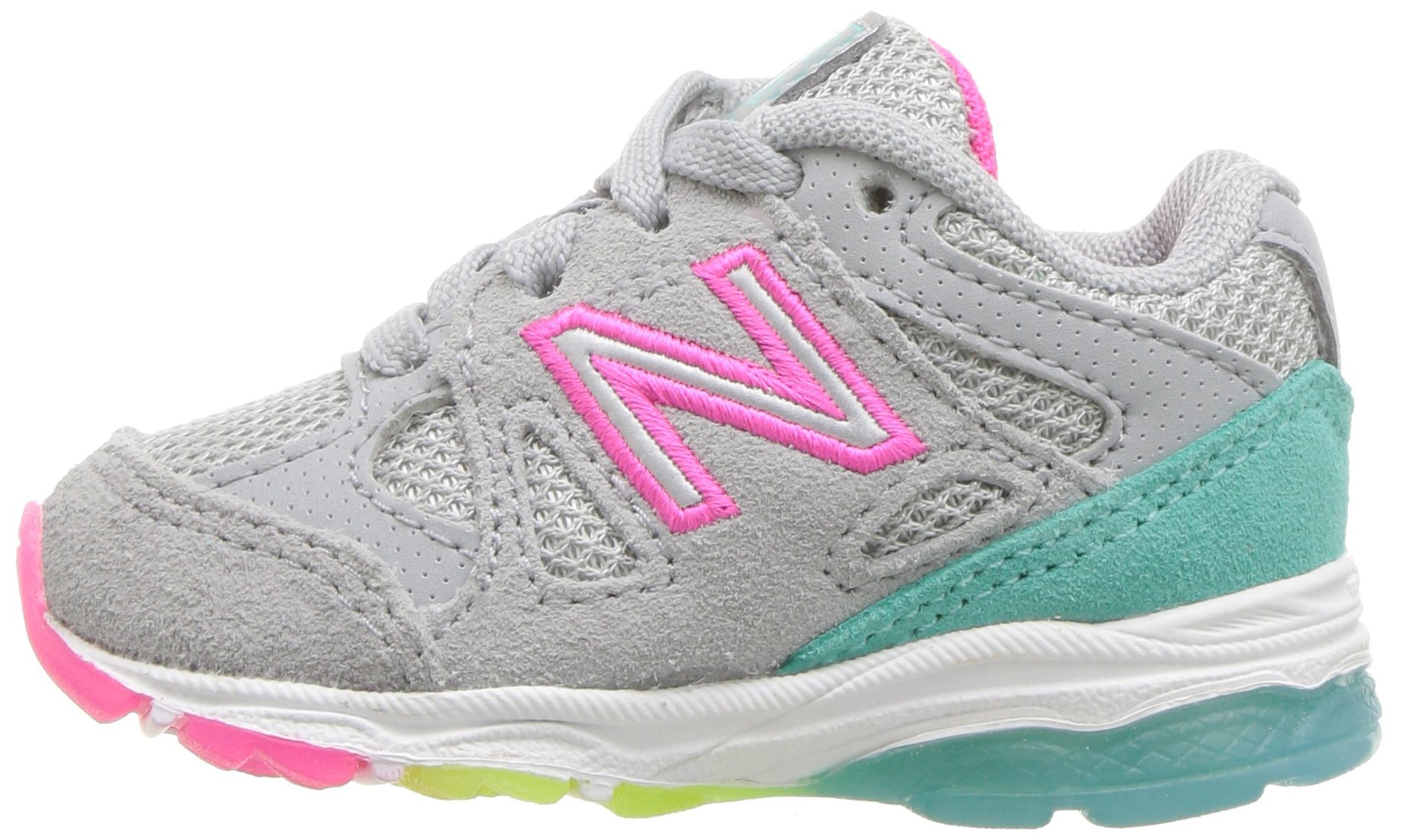 New Balance Girls' 888v1 Running Shoe, Silver Mink/Rainbow, 6 W US Big Kid by New Balance (Image #5)