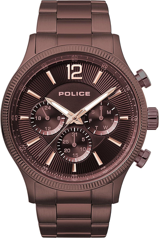 Police Reloj Multiesfera para Hombre de Cuarzo con Correa en Acero Inoxidable PL.15302JSBN/12M