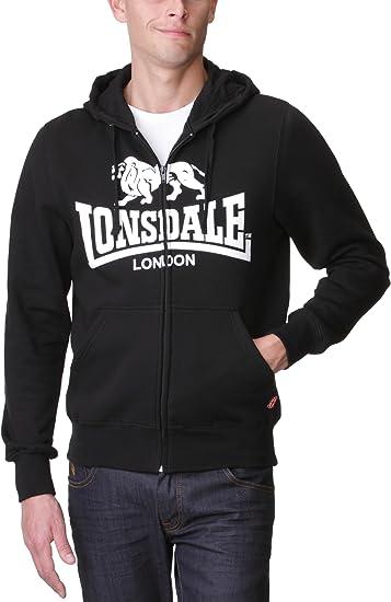 Lonsdale Hombre 2S Zip Sudadera Con Capucha Deportiva Casual