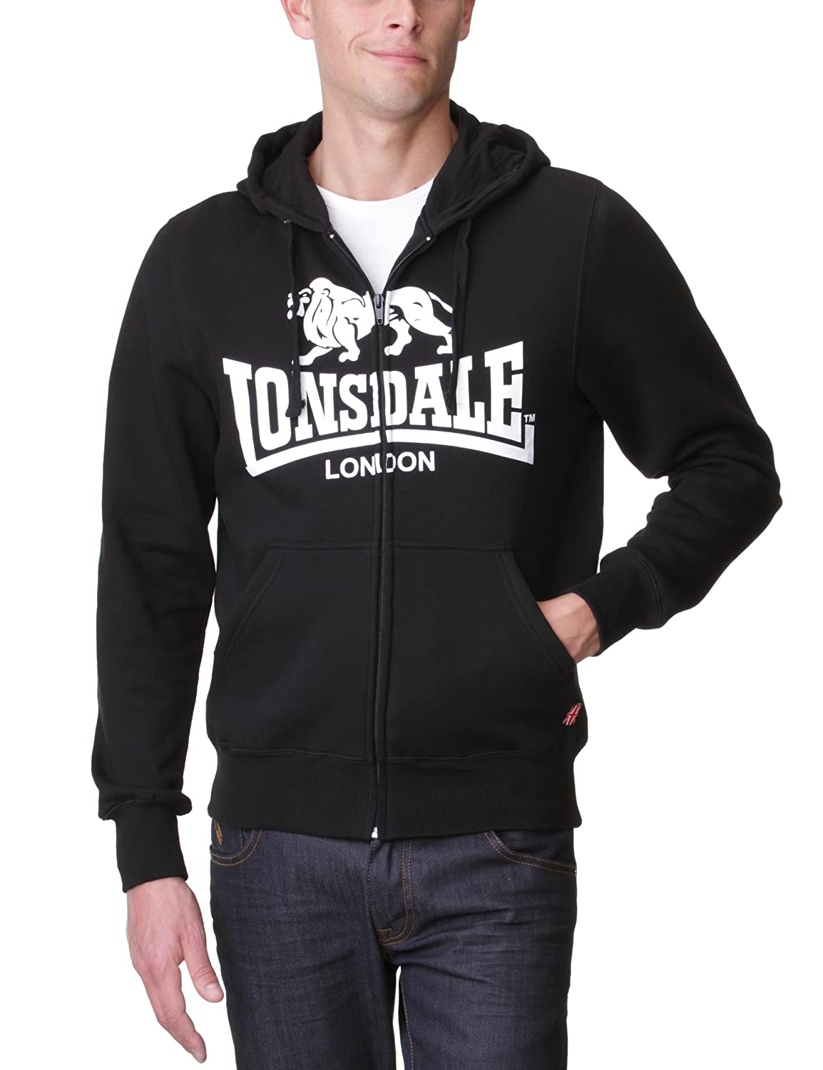 02b432e2deb61 Lonsdale Sweatshirt Slim Fit Hooded Zip Krafty Sweat-Shirt Homme:  Amazon.fr: Vêtements et accessoires
