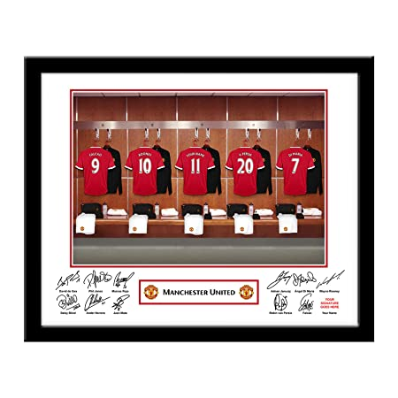 adc5ada4101 Personalised Framed Manchester United Dressing Room Photo