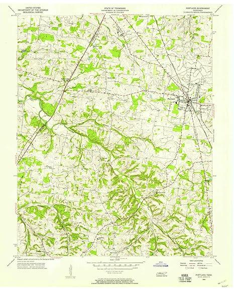 Portland Tennessee Map.Amazon Com Yellowmaps Portland Tn Topo Map 1 24000 Scale 7 5 X
