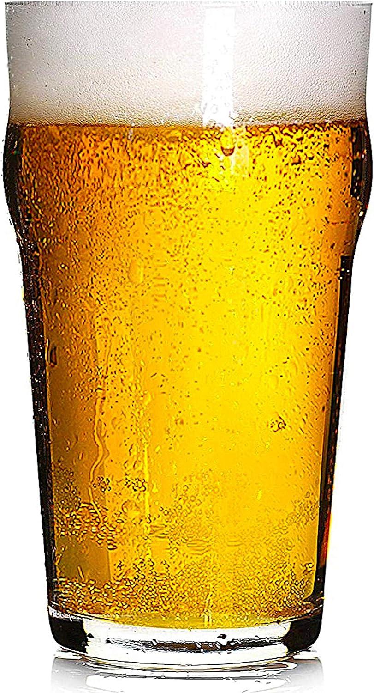 Hostelvia - Pack de 12 - Nonic Vaso de Cerveza de Pinta 56 cl