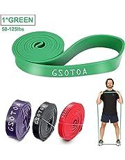 GSOTOA Bandas de Resistencia Kit Fitness Bandas Elásticas para dominadas de Látex Verde 50-125lbs