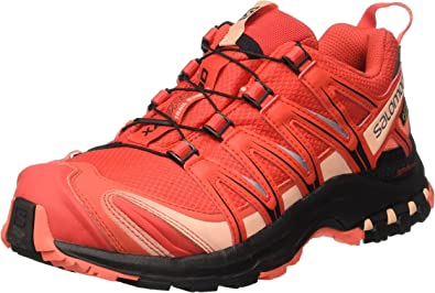 Salomon XA Pro 3D GTX W, Zapatillas de Trail Running para Mujer, Rojo (Poppy Red/Black/Living Coral), 37 1/3 EU: Amazon.es: Zapatos y complementos