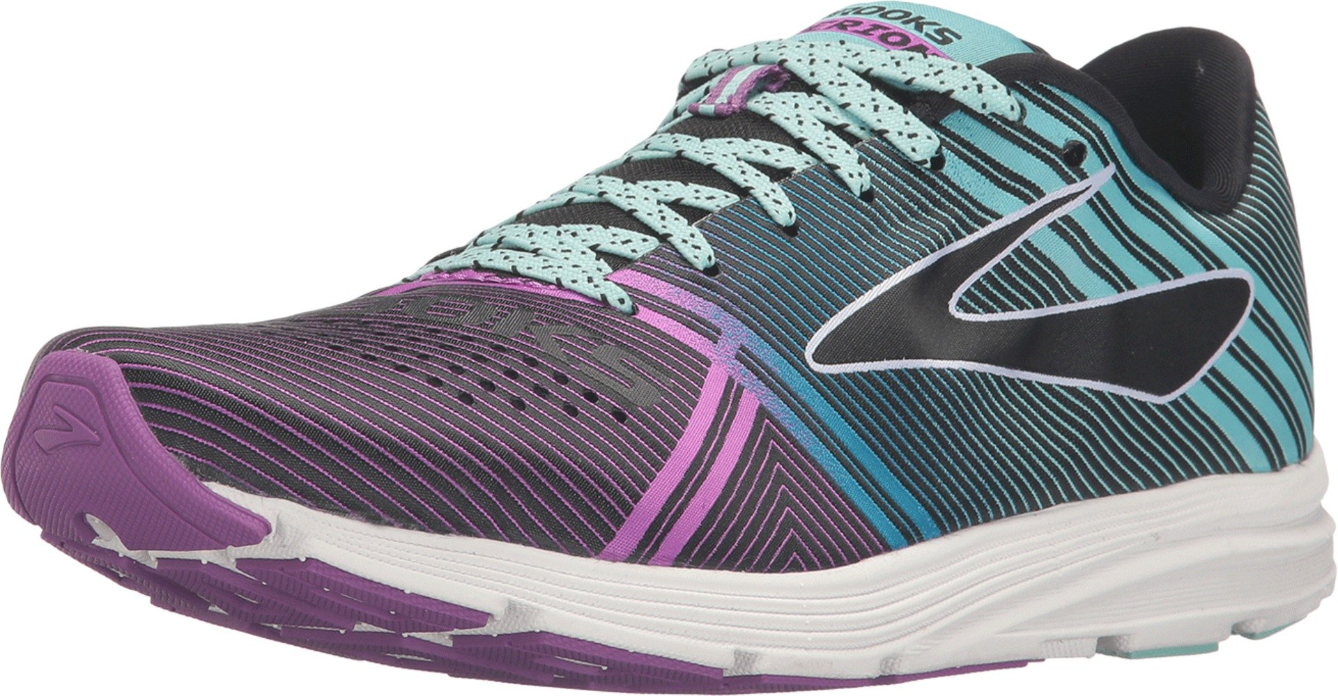 f7b24b4dd1508 Galleon - Brooks Women s Hyperion Black Dewberry Aruba Blue Sneaker 6.5 B  (M)