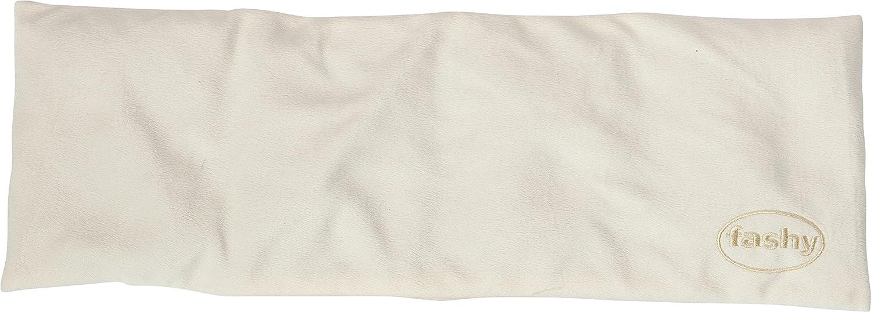 Fashy 6341 - Cojín térmico con relleno de colza, 17 x 50cm, color crema