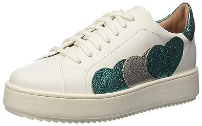 Twin Set Cs8pnc, Chaussures de Gymnastique Femme, Blanc Cassé (Bianco Ottico), 40 EU