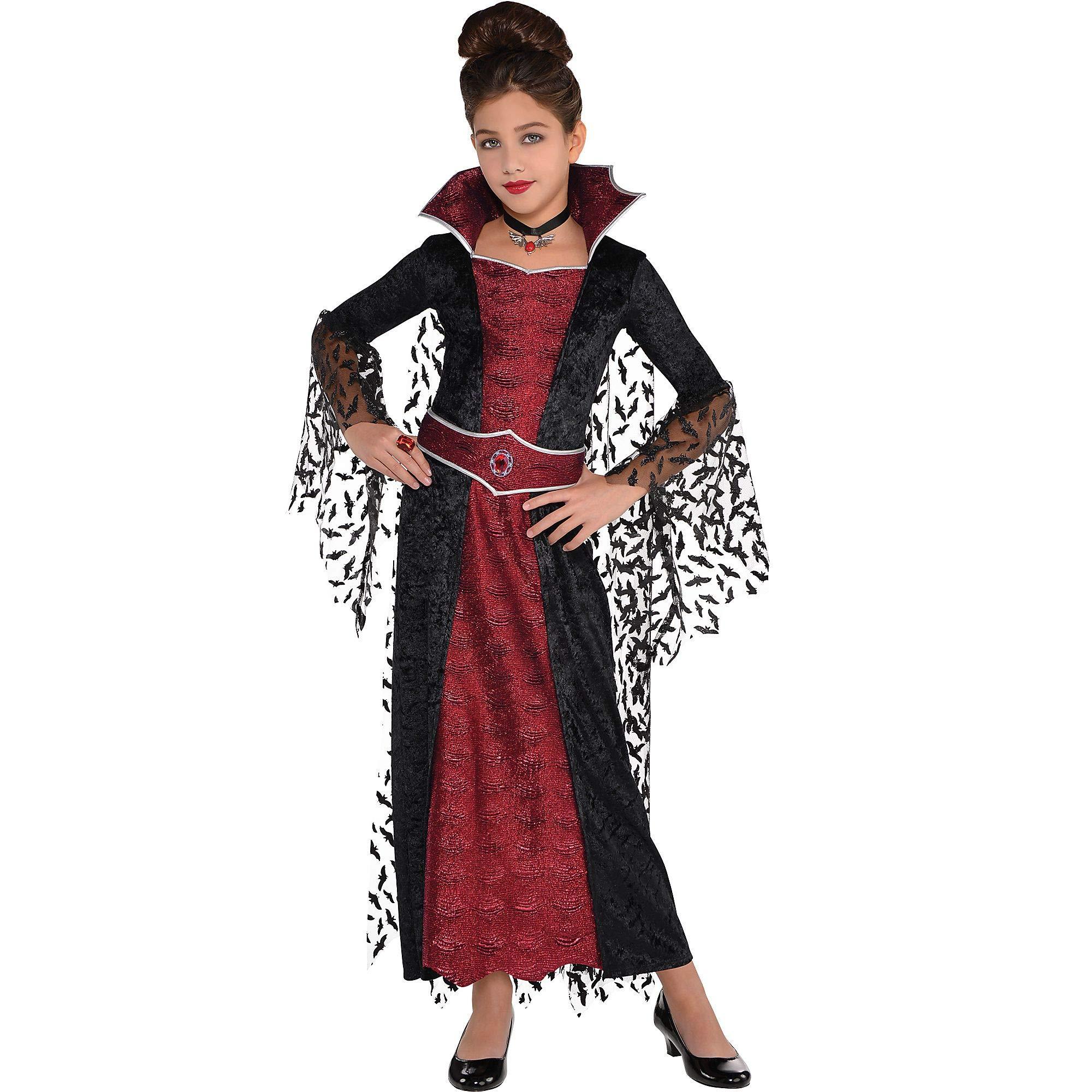 Girls Coffin Queen Vampire Costume - Medium (8-10) by amscan