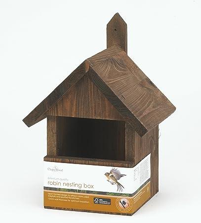 Chapelwood - Caja Nido para petirrojo: Amazon.es: Jardín