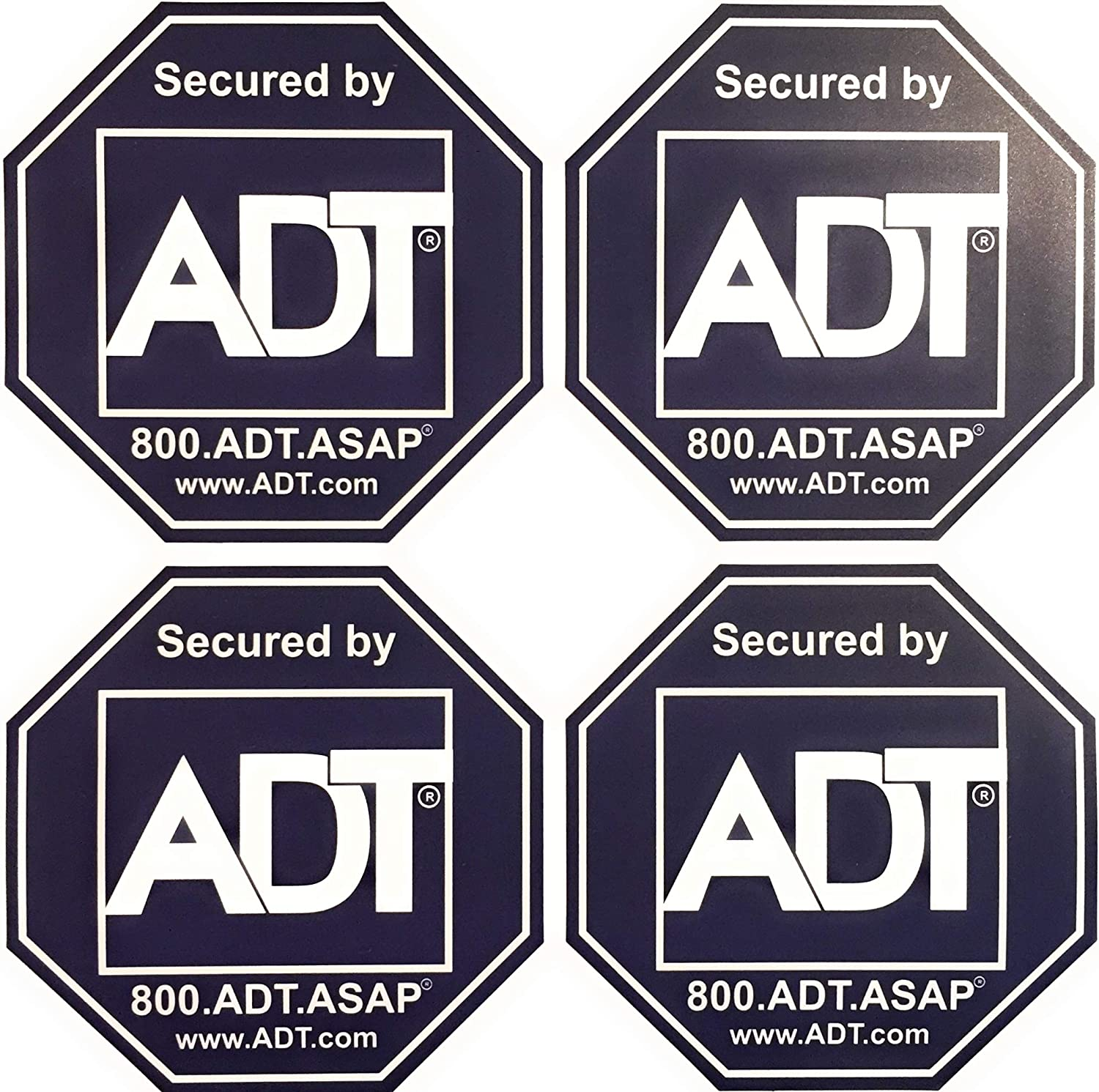 ADT 8 Sticker Decals - Double-Sided Authentic Dark Blue