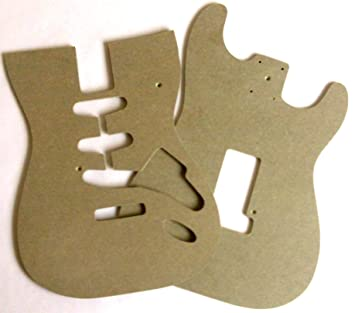 Stratocaster Style Guitar Body Router Templates: Amazon.co.uk ...