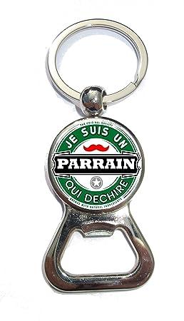 70634522a955 Porte clé décapsuleur Parrain Qui déchire  Amazon.fr  Bagages