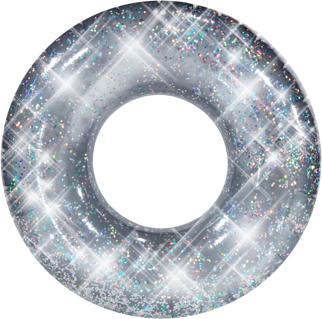 Pool Candy Confetti Glitter Beach & Pool Tube Metallic Silver