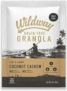 product image for Wildway Vegan Granola   Coconut Cashew   Certified Gluten Free Granola Snack Packs, Grain Free, Paleo, Non GMO, No Artificial Sweetener   12 Pack