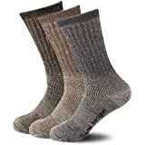 ThemeDesigner Premium Merino Wool Blend Socks 3 Packs Outdoor Hiking Socks
