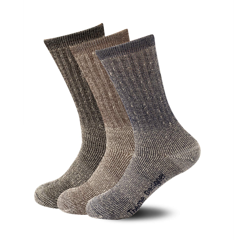 fb6c9de7da ThemeDesigner Premium Merino Wool Blend Socks 3 Packs Outdoor Hiking Socks