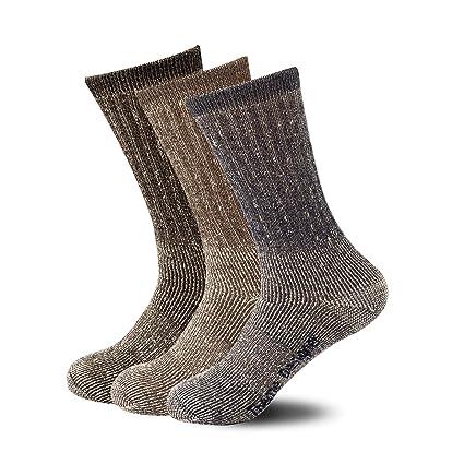 536d42b2605da ThemeDesigner Mens Hiking Socks Merino Wool Blend Hike Winter Sock Black  Blue Boot Wool Quarter Crew