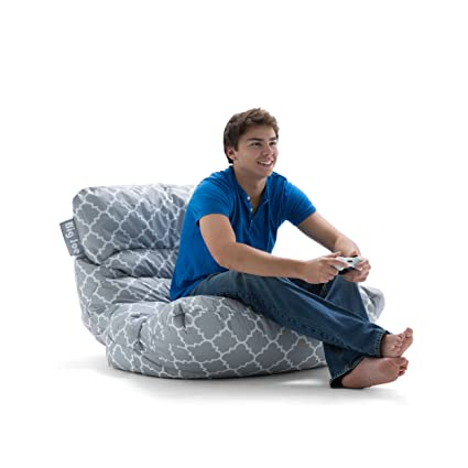Beau Big Joe Roma In Smartmax Bean Bag, Gray Quatrafoil