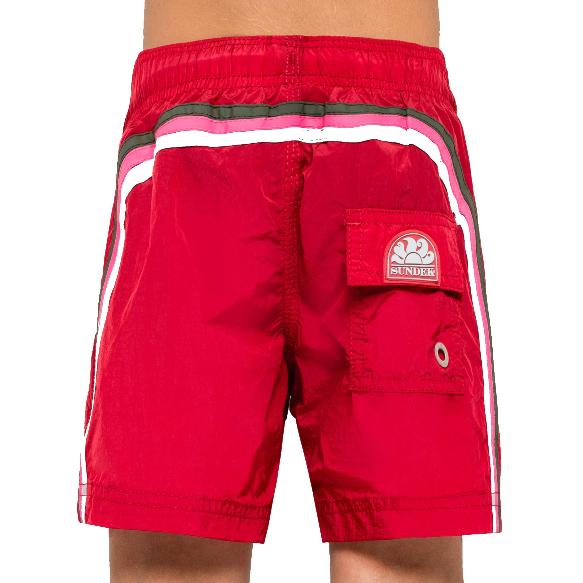 Sundek Classic Boy's Shorts - 10'' Long - with Rainbow ON The Back