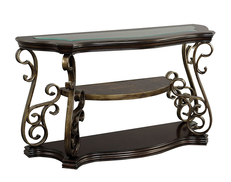 Amazon com standard furniture seville sofa table warm burnished bronze base kitchen dining