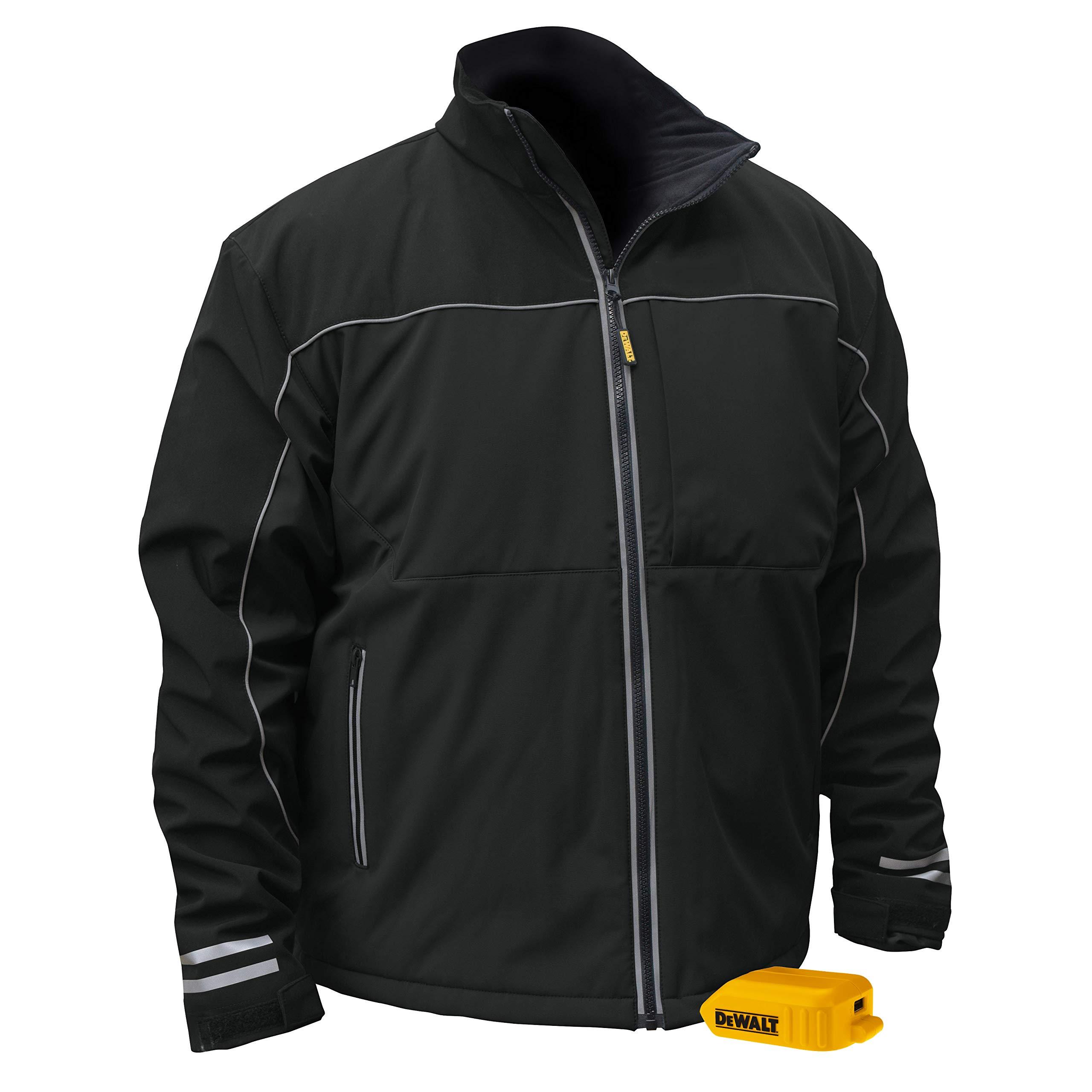 DEWALT DCHJ072B-3X Heated Lightweight Soft Shell Jacket, 3X, Black