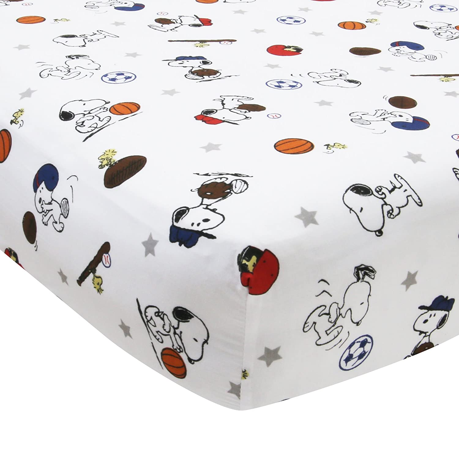 Bedtime Originals Snoopy Sports Sheet Lambs & Ivy 252006B