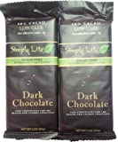 Simply Lite 50% Cacao Low Carb Dark Chocolate Bars, Pack of 2
