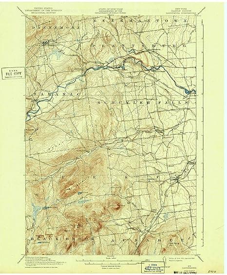 Map Of New York Dannemora.Amazon Com Yellowmaps Dannemora Ny Topo Map 1 62500 Scale 15 X
